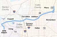 Cotton Belt rail corridor