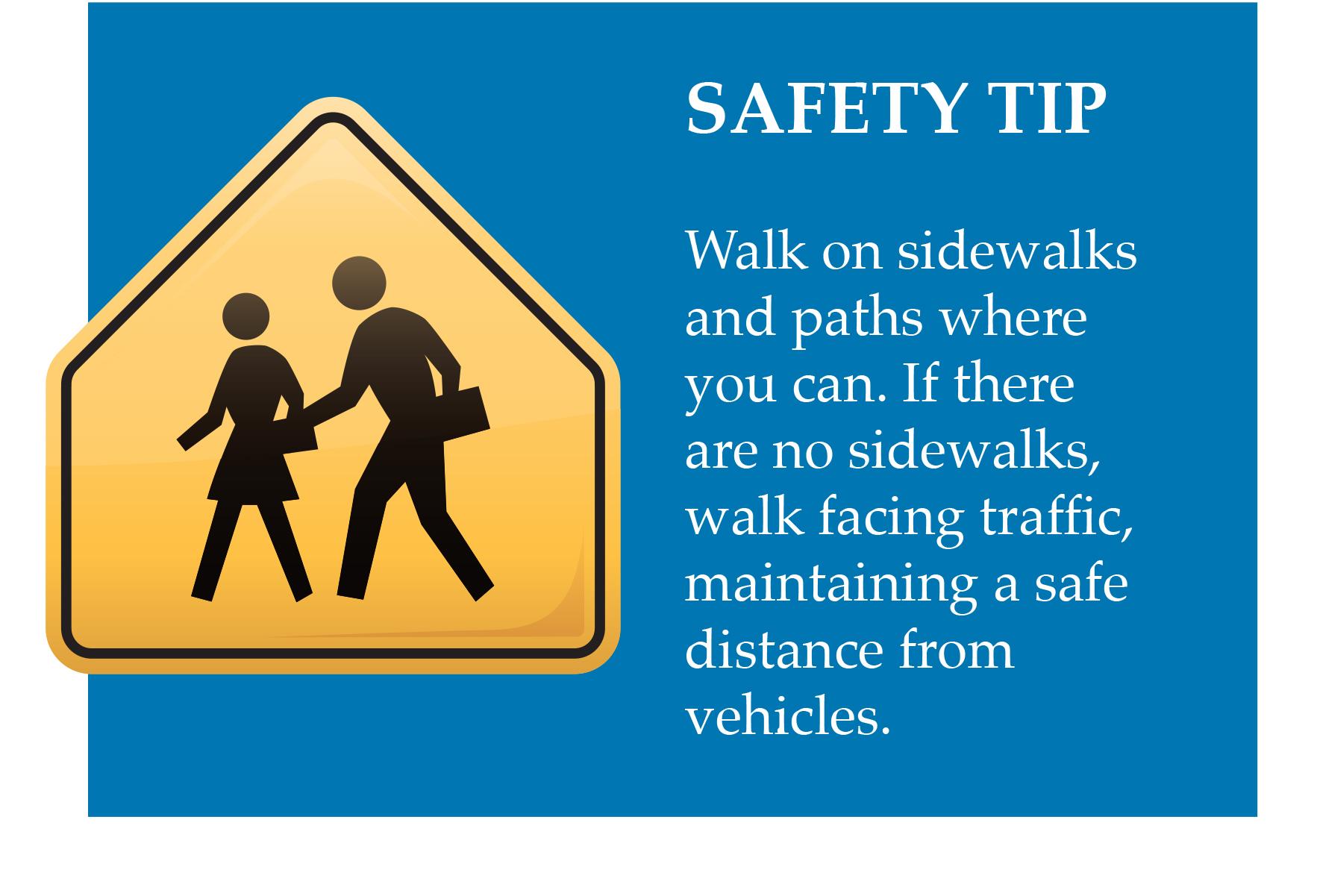 Tip for safe walking
